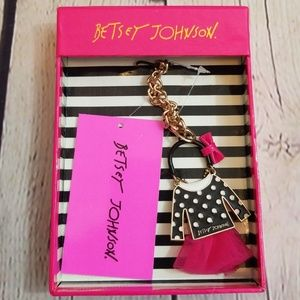 NWT Betsey Johnson Polka Dot Outfit Bag Dangle